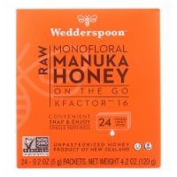 Wedderspoon Honey On The Go 100% Raw Manuka Honey - Case of 6 - 4.2 OZ - 4.2 OZ
