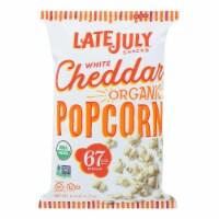 Late July Snacks Organic Popcorn - Case of 12 - 4.4 OZ