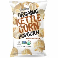 Popcornopolis Organic Kettle Corn Popcorn Sweet & Salty, 6.5oz (Pack of 6)