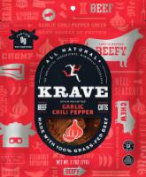 Krave Beef Jerky - Garlic Chili Pepper - Case of 8 - 2.7 oz - 2.7 OZ