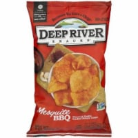 Deep River Snacks Mesquite BBQ  kettle Cooked Potato Chips, 8oz (Pack of 12)