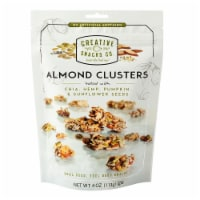 Creative Snacks - Almond Clusters - Seeds - Case of 12 - 4 oz