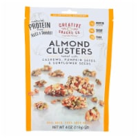 Creative Snacks - Almond Clusters - Cashew and Seeds - Case of 12 - 4 oz