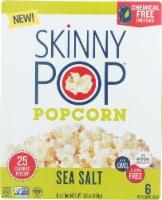 Skinny Pop Popcorn Sea Salt Micro Bag, 16.8 oz (Pack of 6)