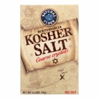 Natural Tides Mediterranean Kosher Salt - Coarse Crystals - Case of 6 - 2.2 LB - Case of 6 - 2.2 LB each