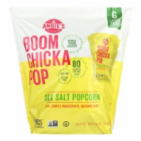 Angie's Kettle Corn Popcorn - Boomchickapop - Sea Salt - Case of 4 - 6/.6 oz