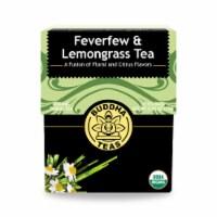 Buddha Teas - Organic Tea - Feverfew and Lemongrass - Case of 6 - 18 Count - Case of 6 - 18 CT each