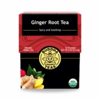 Buddha Teas - Organic Tea - Ginger Root - Case of 6 - 18 Count - Case of 6 - 18 BAG each