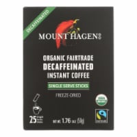Mount Hagen - Organic Fairtrade Decaffeinated Instant Coffee 25ct - Case of 8 - 1.76 OZ