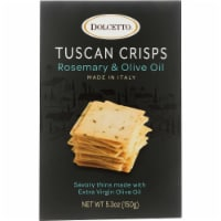 Dolcetto Tuscan Crisps Rosemary & Olive Oil  Made In Italy ,5.3 oz (Pack of 12) - 12