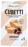 Dolcetto Cubetti Crème Filled Wafer Cookies Chocolate 8.8oz Pk 10