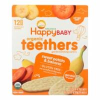 Happy Baby Teethers - Organic - Gentle - Banana and Sweet Potato - 1.7 oz - case of 6