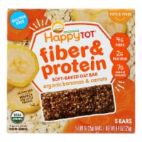 Happy Tot Happy Tot Fiber and Protein - Apple Peach Pumpkin and Cinnamon-Case of 6-0.88oz - Case of 6 - 5/.88OZ each