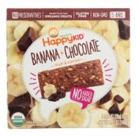 Happy Kid Fruit & Oat Bar Banana & Chocolate  - Case of 6 - 5/.99 OZ - Case of 6 - 5/.99 OZ each