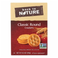 Back To Nature Classic Round Crackers - Safflower Oil and Sea Salt - Case of 6 - 8.5 oz.