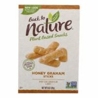 Back To Nature Honey Graham Sticks - Graham Flour and Honey - Case of 6 - 8 oz. - 8 OZ