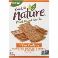 Back to Nature Plant Based Snacks Roasted Garlic & Basil Crackers, 5.5 oz (Pack of 6) - 6