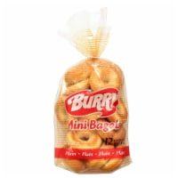 Burry Foodservice Thaw and Sell Sliced Plain Bagel, 1 Ounce -- 168 per case.