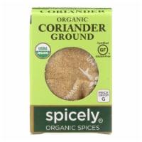 Spicely Organics - Organic Coriander - Ground - Case of 6 - 0.45 oz. - Case of 6 - 0.45 OZ each