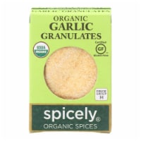 Spicely Organics - Organic Garlic Granulates - Case of 6 - 0.45 oz. - Case of 6 - 0.45 OZ each