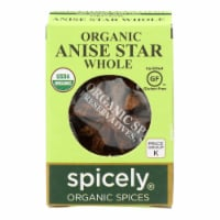 Spicely Organics - Organic Star Anise - Whole - Case of 6 - 0.1 oz. - Case of 6 - 0.1 OZ each