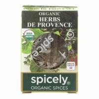 Spicely Organics - Organic Herbs De Provence Seasoning - Case of 6 - 0.1 oz. - Case of 6 - 0.1 OZ each