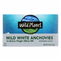 Wild Planet White Anchovies in Extra Virgin Olive Oil - Case of 12 - 4.4 oz - 4.4 OZ