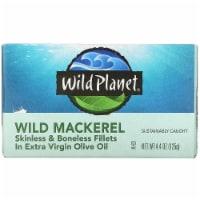 Wild Planet Wild Mackerel Fillets In Extra Virgin Olive Oil - Case of 12 - 4.375 oz.