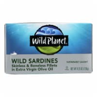 Wild Planet Wild Sardines - Skinless Boneless Fillets in Olive Oil - Case of 12 - 4.25 oz - 4.25 OZ