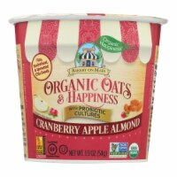 Bakery On Main Oats and Happiness Oatmeal Cup - Cranberry Apple Almond - Case of 12 - 1.9 oz. - 1.9 OZ