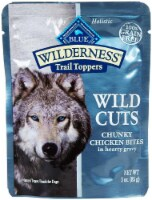 Blue Buffalo  Wilderness Wild Cuts Dog Trail Toppers     Chunky Chicken Bites in Hearty Gravy