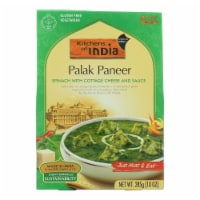 Kitchen Of India Dinner - Spinach w Cottage Cheese n Sauce - Palak Paneer - 10 oz - case of 6 - Case of 6 - 10 OZ each