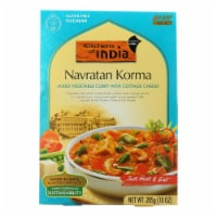 Kitchen Of India Dinner - Mixed Vegetable Curry w Cottage Cheese - Navratan Korma-10 oz-6Case - Case of 6 - 10 OZ each