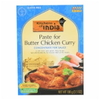 Kitchen Of India Paste - Butter Chicken Curry - 3.5 oz - Case of 6 - Case of 6 - 3.5 OZ each