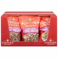 Popcorn Indiana Drizzled Kettlecorn - Black & White - Case of 12 - 6 oz - Case of 12 - 6 OZ each