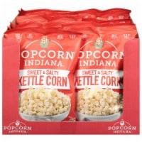 Popcorn Indiana Sweet & Salty Kettle Popcorn Non GMO & Gluten Free, 7oz (Pack of 12) - 12