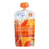 Plum Organics Second Blends Hearty Veggie Meal-Butternut Squash Carrot, Chickpea-6Case-3.5oz - Case of 6 - 3.5 OZ each