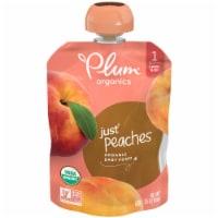 Plum® Organics Just® Peaches Stage 1 Baby Food - 6 pk / 3.5 oz