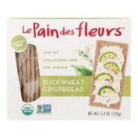 Le Pain Des Fleurs Organic Crisp Bread - Buckwheat - Case of 6 - 4.41 oz. - Case of 6 - 4.41 OZ each