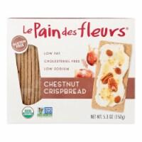 Le Pain Des Fleurs Organic Crisp Bread - Chestnut - Case of 6 - 4.41 oz. - Case of 6 - 4.41 OZ each