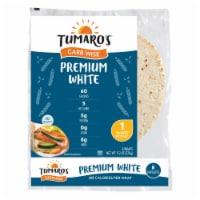 Tumaro'S 8-inch Premium White Carb Wise Wraps - Case of 6 - 8 CT