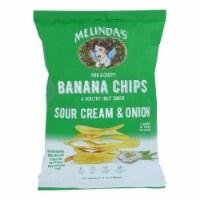 Melinda's Banana Chips Sour Cream & Onion Gluten Free Non GMO 5 oz (Pack of 15) - 15