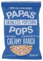 Papas Pops Popcorn Creamy Ranch, 5 oz (Pack of 12) - 12