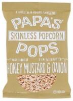 Papas Pops Popcorn Honey Mustard & Onion 5 oz (Pack of 12) - 12
