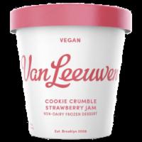 Van Leeuwen Vegan Cookie Crumble Strawberry Jam Ice Cream (8 Count)