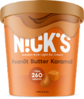 Nick's Swedish-Style Light Ice Cream, Peanöt Butter Karamell, Pint (8 Count) - 8 Count