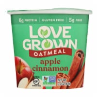 Love Grown Foods Hot Oats - Apple and Cinnamon - Case of 8 - 2.22 oz.