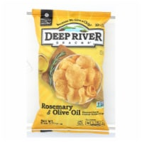 Deep River Snacks Rosemary & Olive Oil Kettle Chips  - Case of 12 - 5 OZ - 5 OZ