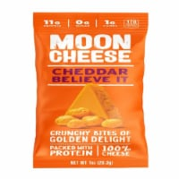 Moon Cheese Cheddar Believe It Crunchy Bites of Golden Delight, 1oz (Pack of 12) - 12