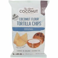 The Real Coconut Organic Grain Free Tortilla Chips Orginal , 5.5oz (Pack of 12) - 12